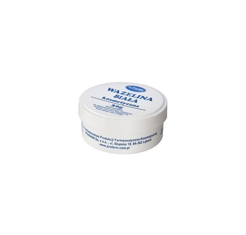 White cosmetic Vaseline